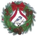 Chickadee Dee Christmas Wreath