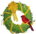 Christmas Cardinal Wreath