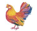 Vibrant Hen in Watercolor