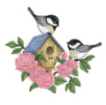 Blooming Chickadee Birdhouse