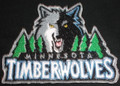 Minnesota Timber wolves logo Iron On Patch