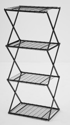 4 Tier Slim Exy Shelving Black