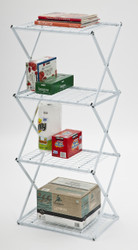 4 Tier Slim Exy Shelving White