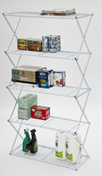 5 Tier Exy Shelving White