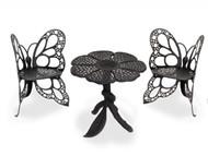 Butterfly Bistro Set Black Scratch-n-Dent