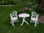 Butterfly Bistro Set White Scratch-n-Dent