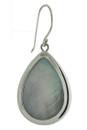 Pear Blue Druzy Earrings In Sterling Silver-Bsck View