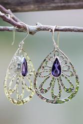 Lolite Sterling Silver Earrings