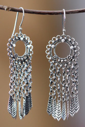 Sterling silver earrings hook