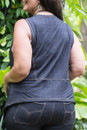 Denim vest - Back view
