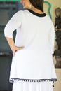 V neck tunic with pom-pom - back view