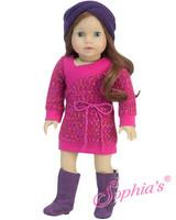 Save $5. Hot Pink Sweater Dress With Purple Muff Headband