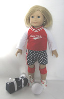 American Themed Volley Ball Outfit Fits 18 Inch American Girl Dolls