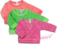 Neon Lime Slouchy Sweatshirt Fits American Girl Dolls