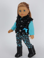 Leopard Print Diva Outfit Fits American Girl Dolls