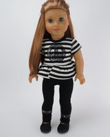Peace Sequined Pants Set For American Girl Dolls