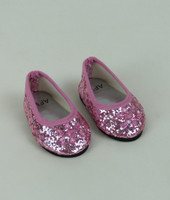 Light Pink Jeweled Glitter Flats