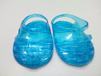 Turquoise Jelly Sandals For Your American Girl Doll
