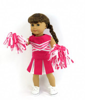 Hot Pink Cheer Uniform For Your American Girl Doll