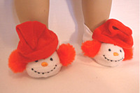Snowman Slippers For Your American Girl Doll