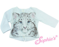 Snow Leopard Graphic Tee For Your American Girl Doll