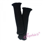 black knit knee high socks