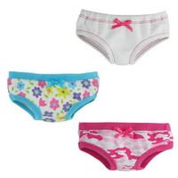 "Set of 3 18"" Doll Underwear"