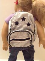 Metallic Star Backpack for 18 inch American Girl Dolls