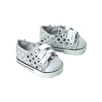 Silver Sequin Sneakers for 18 inch American Girl Dolls
