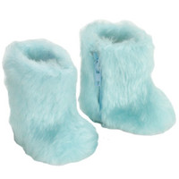 American Girl Doll Furry Boots - Pink, Aqua or White