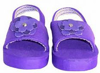 Summer Sandals with Flowers for 18 inch American Girl Dolls