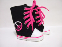 Peace Sign High Tops for 18 inch American Girl Dolls