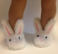 Bunny Slippers for 18 inch American Girl Dolls