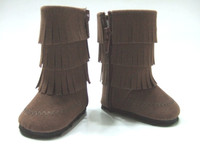 Brown Fringed Boot for 18 in American Girl Dolls
