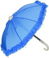 Blue Umbrella for 18 inch American Girl Dolls