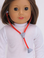 Pink or Red Stethoscope for 18 in American Girl Dolls