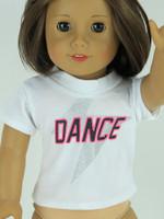 Dance T-Shirt for 18 inch American Girl Dolls