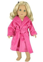 Hot Pink Robe for 18 inch American Girl Dolls