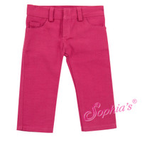 Hot Pink Skinny Jeans for 18 inch Dolls like American Girl Dolls