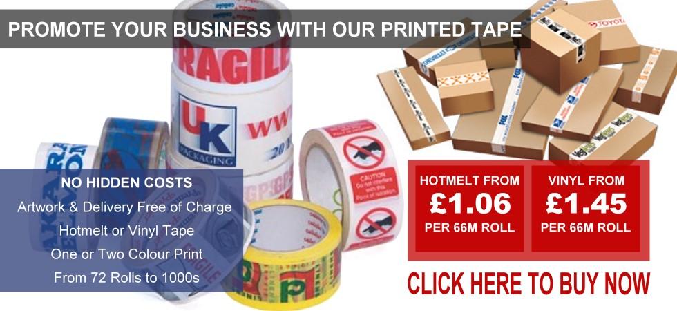 Custom Vinyl or Polyprop Packaging Tape