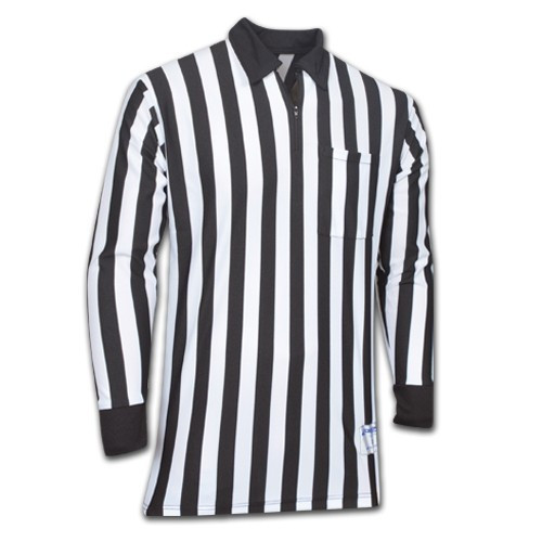 Cliff Keen Polyester Long Sleeve Football Referee Shirt Extra Tall