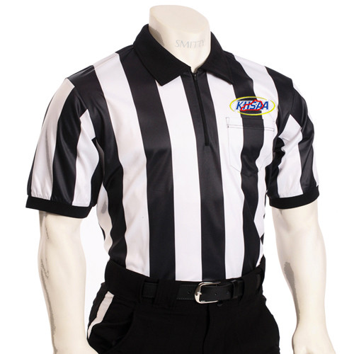 "Smitty KHSAA Embroidered SS 2"" Stripe Football Referee Shirt"