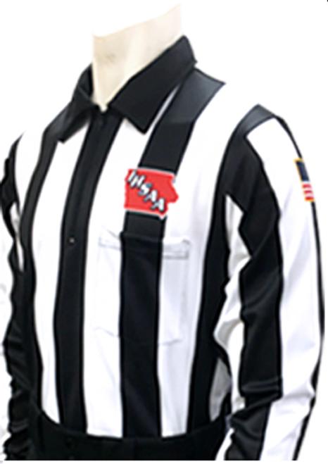 """Smitty Iowa IHSAA 2 1/4"""" Foul Weather Football Referee Shirt"""