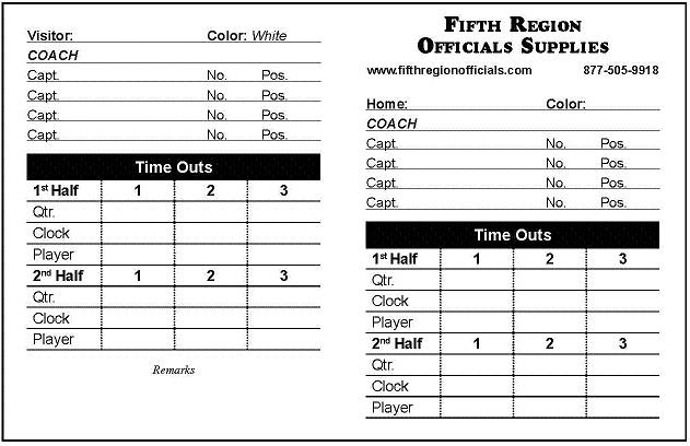 Referee Equipment Football Referee Game Data Cards