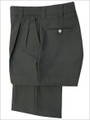 Smitty Pleated Charcoal Grey Combo Umpire Pants with Expander Waistband