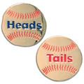 Heads/Tails Softball Stitch Replica Flip Coin