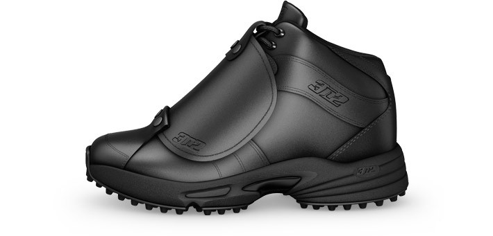 patent leather plate umpire shoes