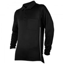 Honig's Black Pro Style Long Sleeve Umpire Shirt
