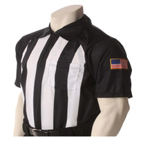 """Pop Warner 2 1/4"""" Short Sleeve Football Referee Shirt"""