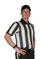 """Cliff Keen Ultra Mesh 2"""" Stripe Short Sleeve Football Referee Shirt"""